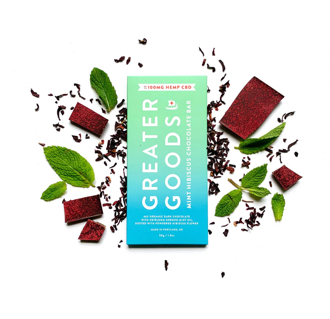 Mint Hibiscus CBD Chocolate