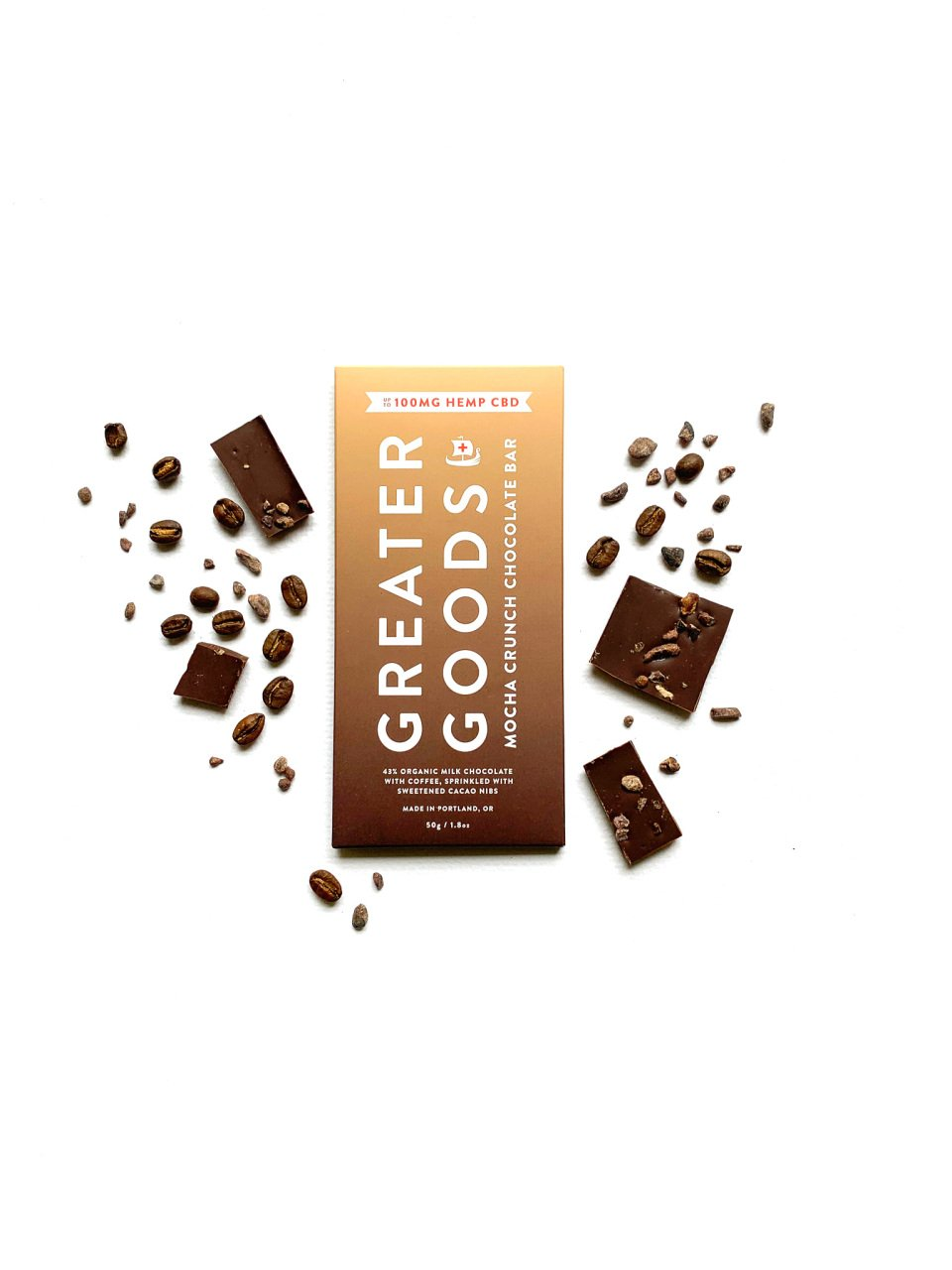 Mocha Crunch CBD Chocolate Bar