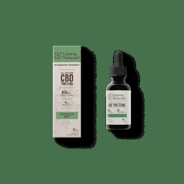 Lazarus Naturals   450mg CBD 30ml Standard Potency Chocolate Mint Tincture