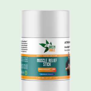 green-eagle-brett-favre-cbd-muscle-relief-salve-stick-NFL