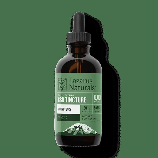 Lazarus Naturals   6000mg & 3000mg High Potency Full Spectrum CBD Tincture
