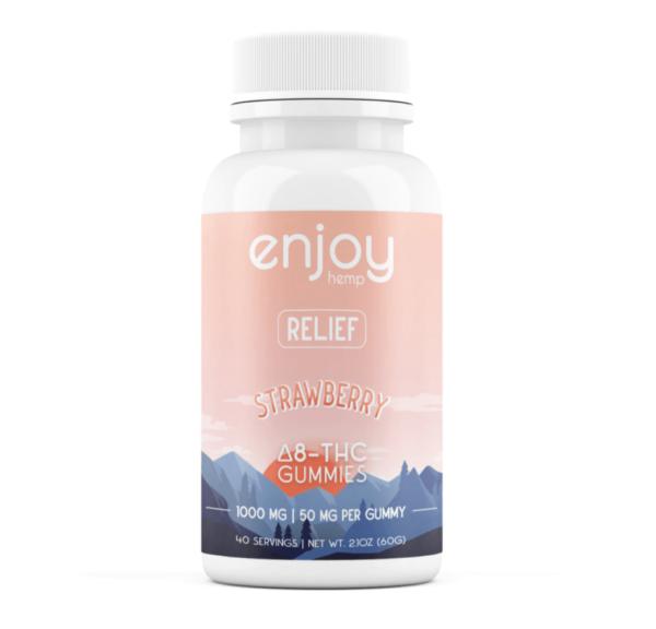 Enjoy Hemp | Δ8 THC Gummies - Strawberry, Blue Raspberry, Pineapple - 1000mg/500mg 20 servings