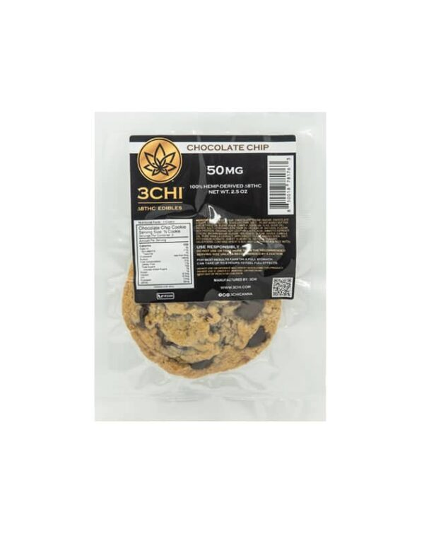 3Chi | Delta 8 THC Chocolate Chip Cookies | 50mg